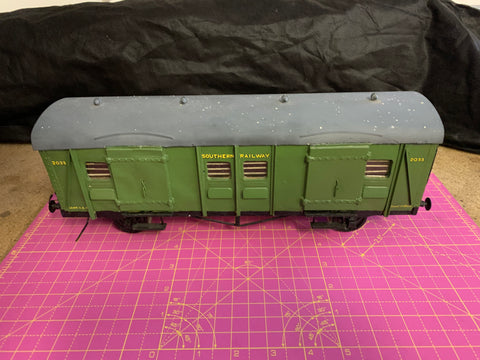 Gauge 1 10mm scale Southern Railway 4 wheel Parcel/luggage van