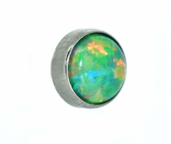 Pinchy's Olive Green Cabochon Opal