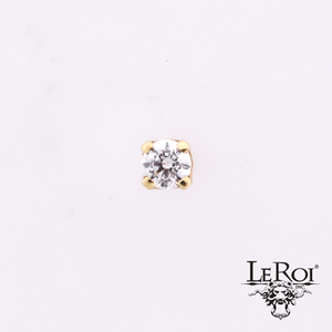 LeRoi 4 Prong-Set Gem, 18k