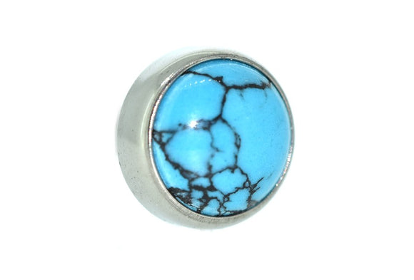Cabochon Faux Turquoise Flat