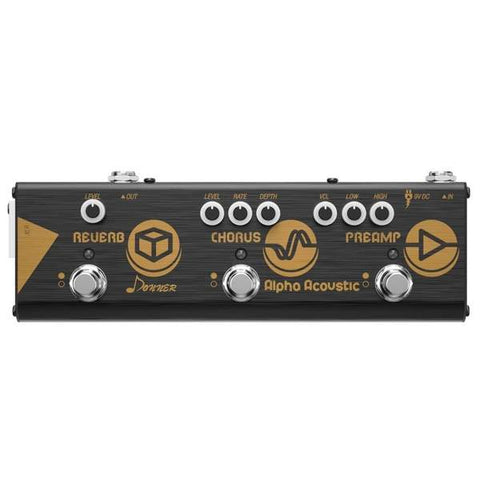 Donner preamp for acoustic guitar, hall reverb and chorus pedal- guitarmetrics