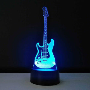 Amroe™ Guitar lamp (3D illusion lamp) with Free shipping guitarmetrics