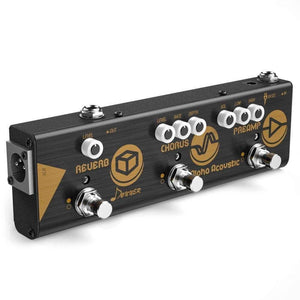 Donner acoustic preamp, hall reverb and chorus pedal. guitarmetrics