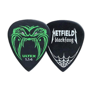 Dunlop™ James Hetfield black fang picks guitarmetrics 1.14mm 1 piece