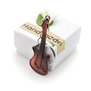 Electric guitar keychain guitarmetrics Retro Copper 1
