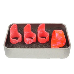 Finger picks for Guitar guitarmetrics Red