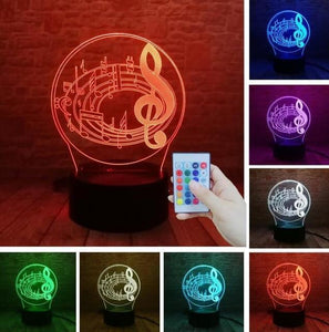 Guitar 3D illusion lamp guitarmetrics Controller 7 Color 1 Free Premium shipping