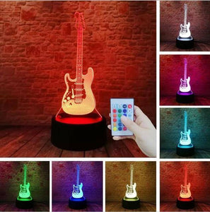 Guitar 3D illusion lamp guitarmetrics Controller 7 Color 2 Free Premium shipping