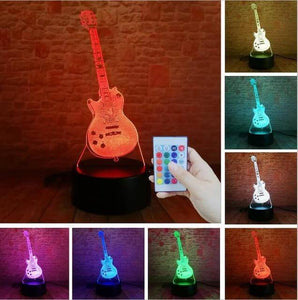 Guitar 3D illusion lamp guitarmetrics Controller 7 Color 3 Free Premium shipping
