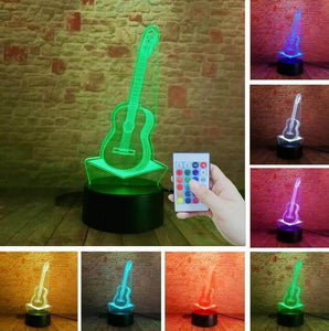 Guitar 3D illusion lamp guitarmetrics Controller 7 Color Free Premium shipping