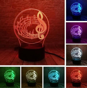 Guitar 3D illusion lamp guitarmetrics Touch 7 Color 1 Free Premium shipping