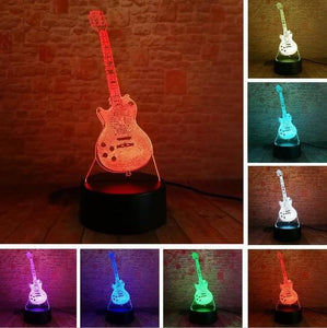 Guitar 3D illusion lamp guitarmetrics Touch 7 Color 2 Free Premium shipping