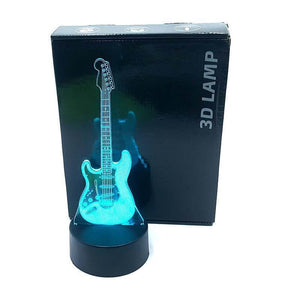 Guitar 3D illusion lamp guitarmetrics Touch 7 Color 3 Free Premium shipping