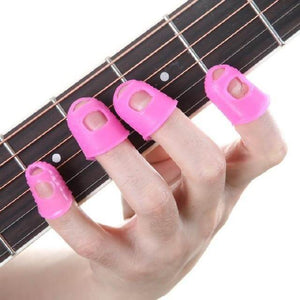 Guitar finger protector (Finger caps) with free shipping guitarmetrics Pink