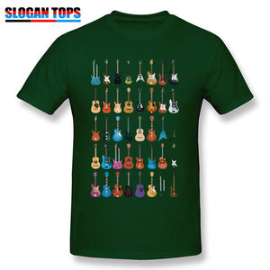 Guitar lovers t shirt guitarmetrics Dark Green XS
