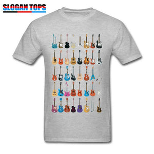 Guitar lovers t shirt guitarmetrics Gray XS