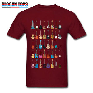 Guitar lovers t shirt guitarmetrics Maroon XS