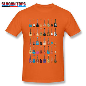 Guitar lovers t shirt guitarmetrics Orange XS