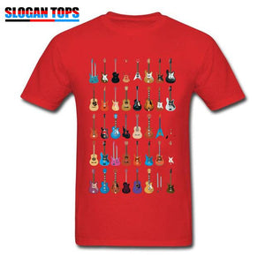 Guitar lovers t shirt guitarmetrics Red XS