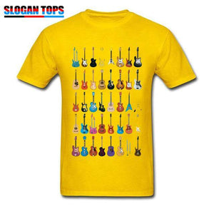 Guitar lovers t shirt guitarmetrics Yellow XS
