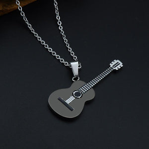 Guitar pendant necklace guitarmetrics