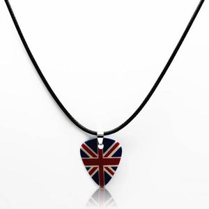 Guitar pick necklace with free shipping guitarmetrics Flag of UK