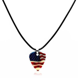 Guitar pick necklace with free shipping guitarmetrics Flag of US