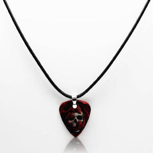 Guitar pick necklace with free shipping guitarmetrics Skull A
