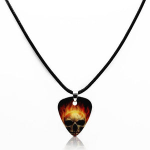 Guitar pick necklace with free shipping guitarmetrics Skull B