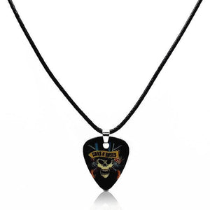 Guitar pick necklace with free shipping guitarmetrics Skull C