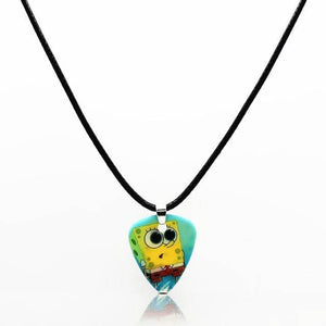 Guitar pick necklace with free shipping guitarmetrics Spongebob
