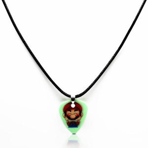 Guitar pick necklace with free shipping guitarmetrics Super Marie