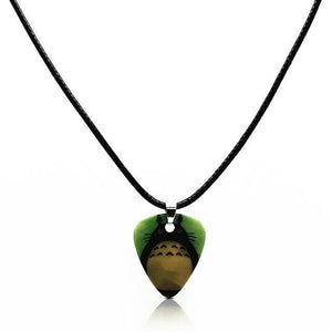 Guitar pick necklace with free shipping guitarmetrics Totoro