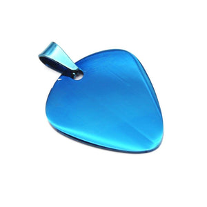 Guitar pick pendant guitarmetrics Blue