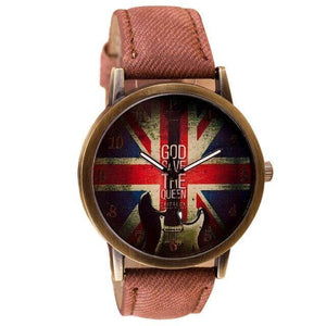 Guitar themed watches guitarmetrics Brown strap