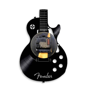 Guitar wall clock (Vinyl record material) guitarmetrics