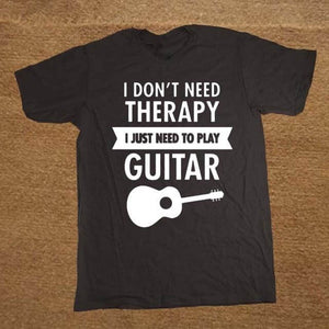 I Don't Need Therapy- Guitar print Tshirt guitarmetrics black 1 XS