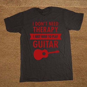 I Don't Need Therapy- Guitar print Tshirt guitarmetrics black 2 XS