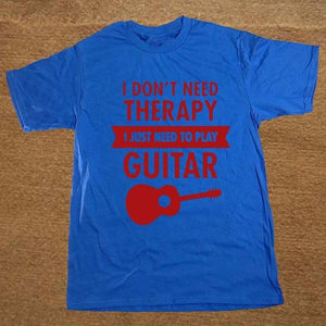 I Don't Need Therapy- Guitar print Tshirt guitarmetrics blue 1 XS