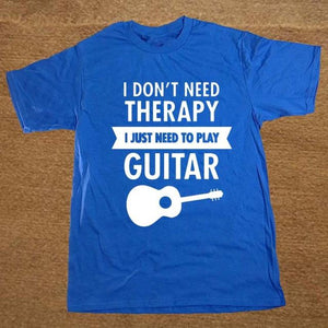 I Don't Need Therapy- Guitar print Tshirt guitarmetrics blue 2 XS