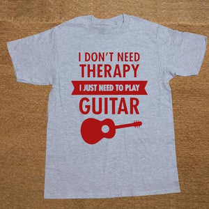 I Don't Need Therapy- Guitar print Tshirt guitarmetrics gray 1 XS