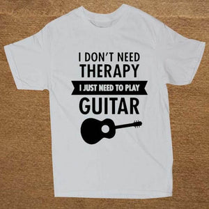 I Don't Need Therapy- Guitar print Tshirt guitarmetrics white 2 XS