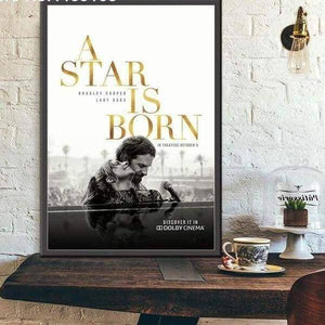 Kainon™ A Star Is Born Movie Poster guitarmetrics 13x18cm No frame Burgundy
