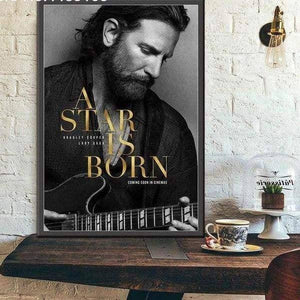 Kainon™ A Star Is Born Movie Poster guitarmetrics 13x18cm No frame Red