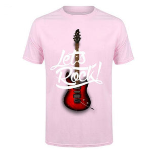 Let's Rock t shirt Costees™ guitarmetrics 4 S