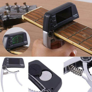 Meideal best Guitar capo with built in tuner (Free shipping) guitarmetrics