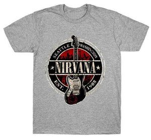 Nirvana t shirt limited edition guitarmetrics Gray M