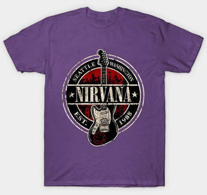 Nirvana t shirt limited edition guitarmetrics Purple M