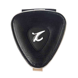 Pick shaped pick holder bag. guitarmetrics