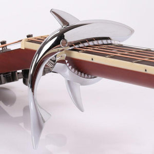 Sharky™ shark guitar capo guitarmetrics Chrome